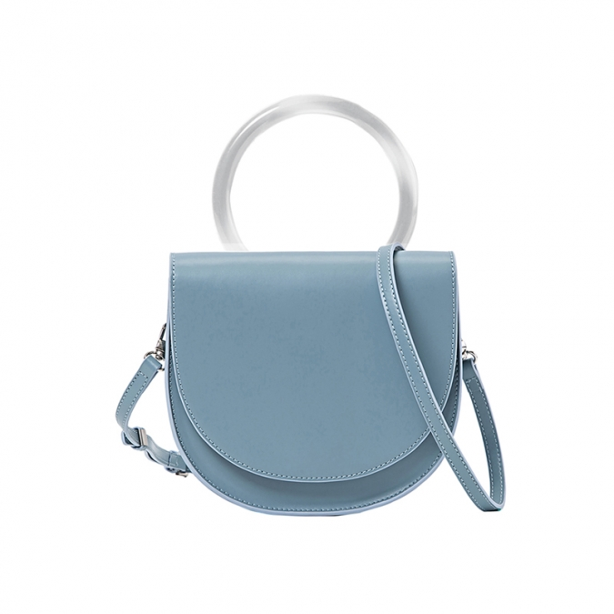 Blue Women's Leather Handbag